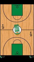 Coachbord gepersonaliseerd Rotterdam Basketbal