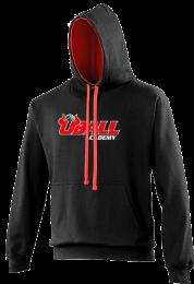 UBALL Varsity Hoodie zwart/Rood
